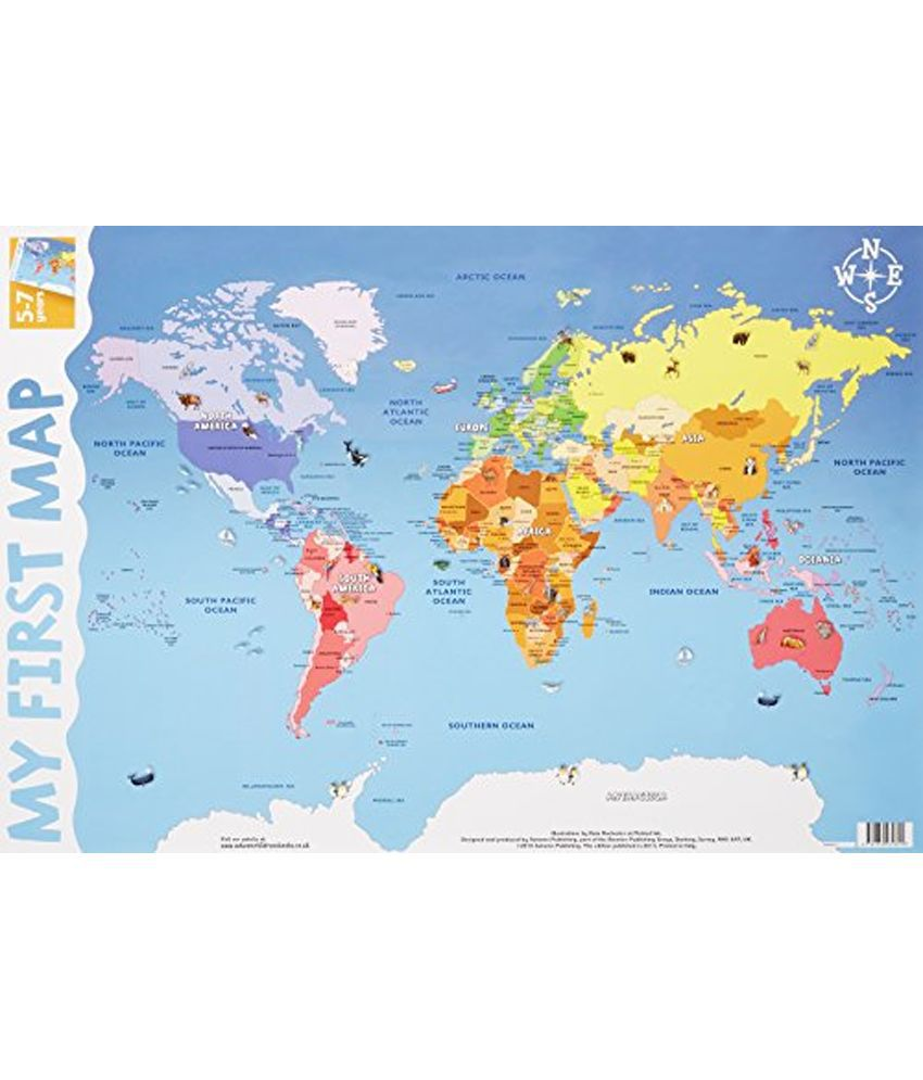 My first world map wall chart buy my first world map wall chart my first world map wall chart gumiabroncs Choice Image