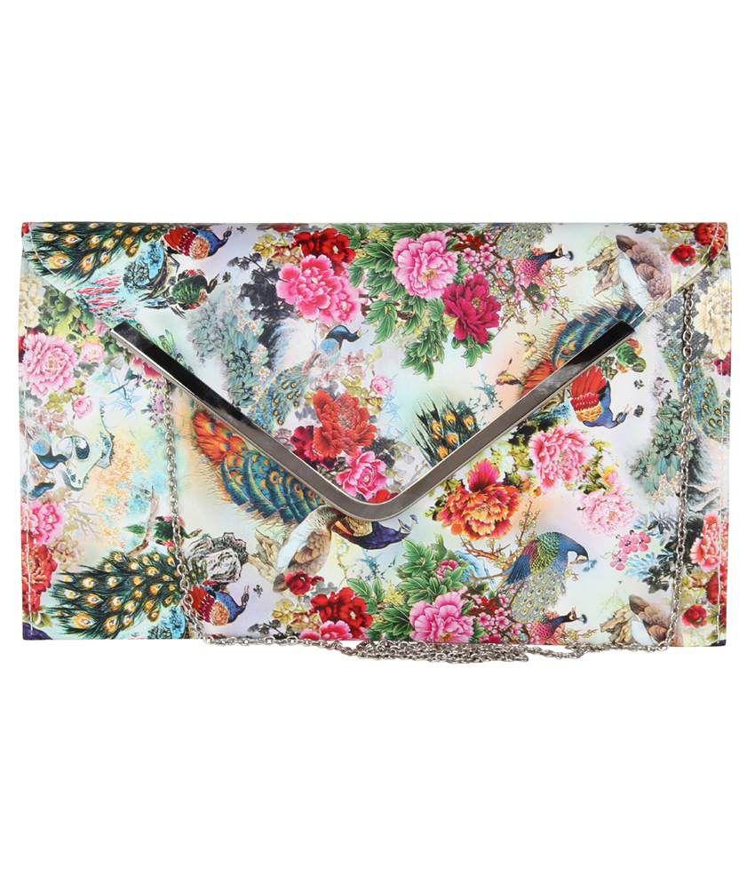 Happy Haat Multi Fabric Clutch