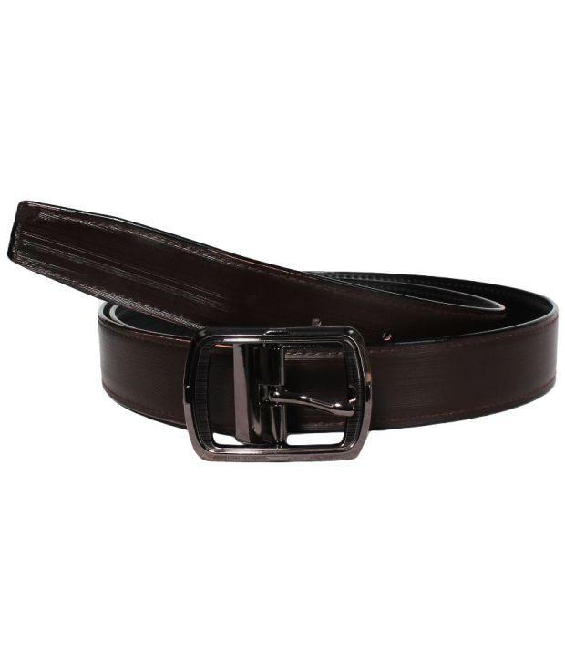Klaska Beautiful Black Formal Belt For Men