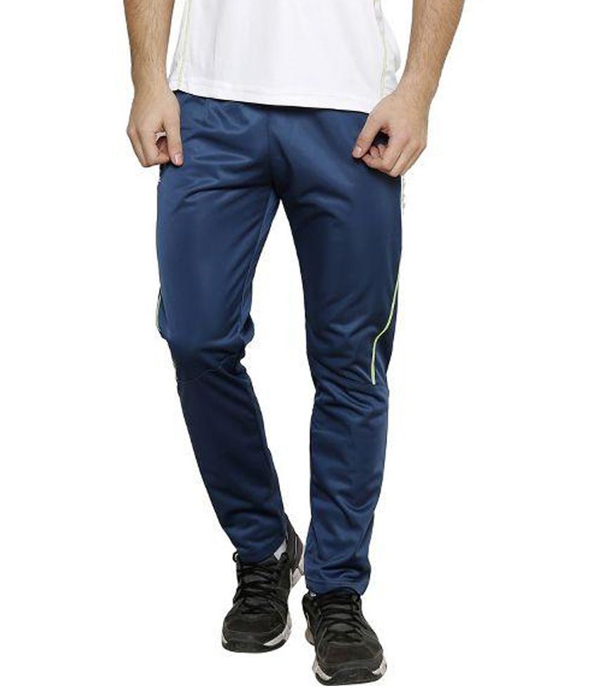 Dida Sportswear Navy Blue Polyester Trackpant