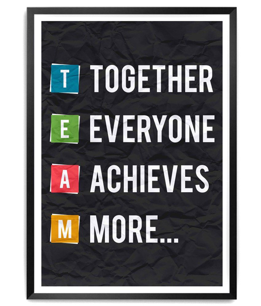 Lab No 4 Team Motivational Quotes Framed Poster Buy Lab No