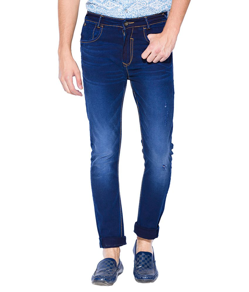 Mufti Blue Carrot Fit Jeans