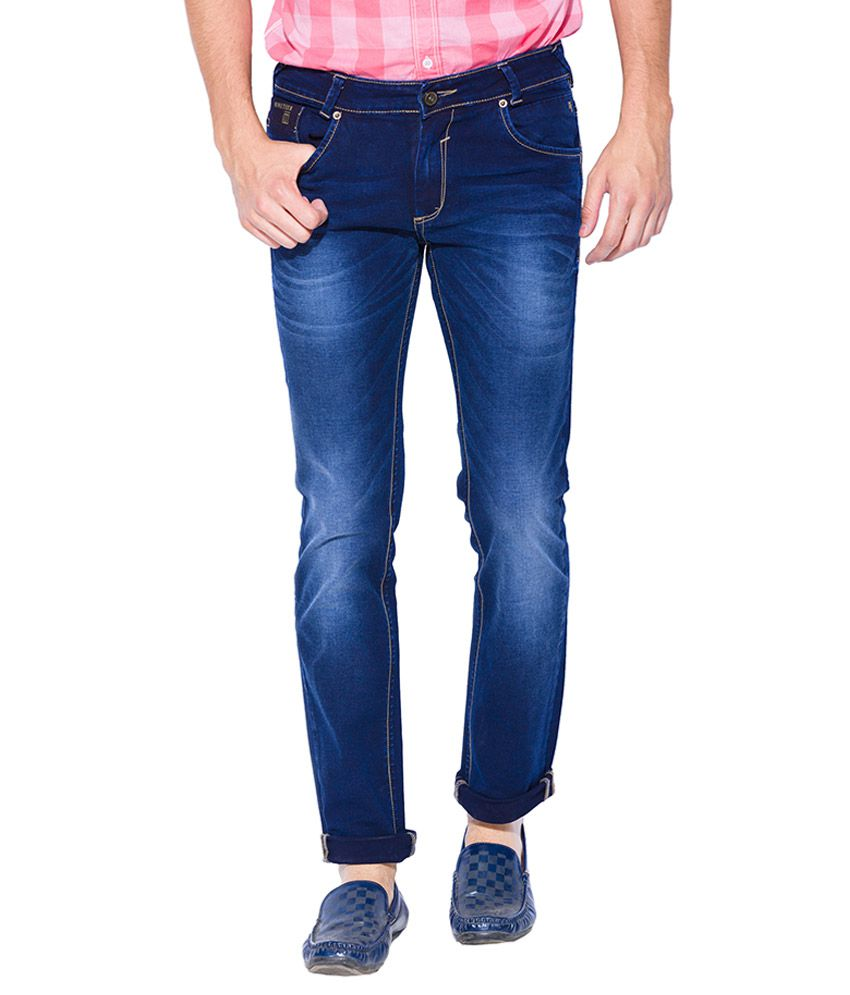 Mufti Blue Super Slim Fit Jeans