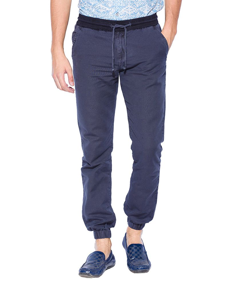 Mufti Navy Regular Fit Joggers
