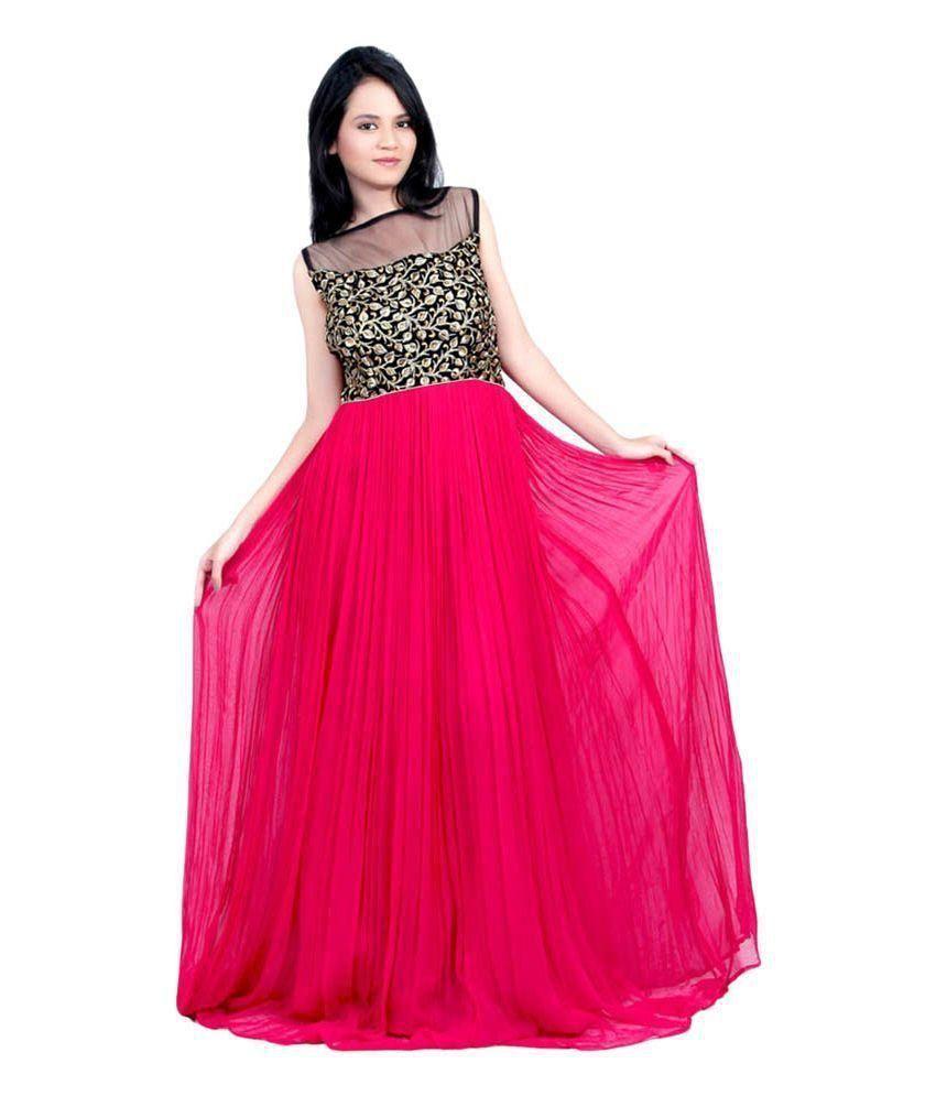appyfashion Black Georgette Gowns