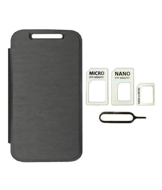 Zocardo Back Cover For Sony Xperia M4 With Sim Adapter - Black