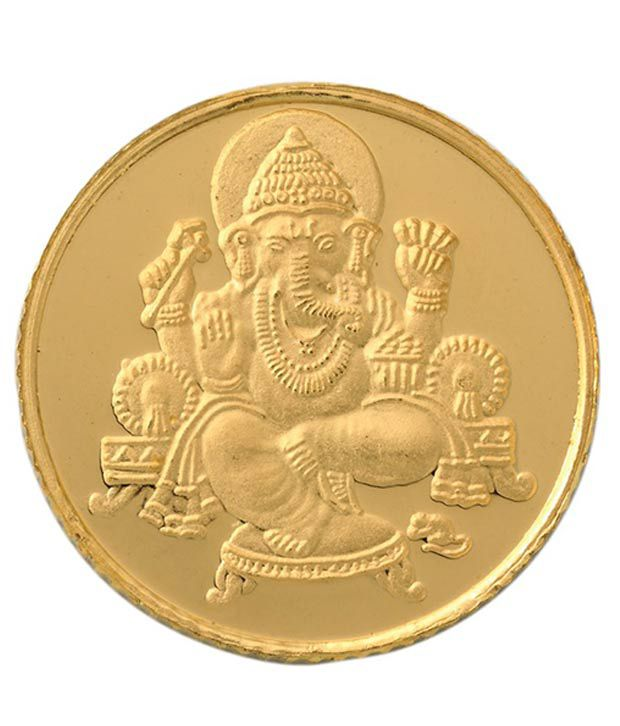 Bangalore Refinery 1 Gram 999 Purity Ganesh Gold Coin Buy