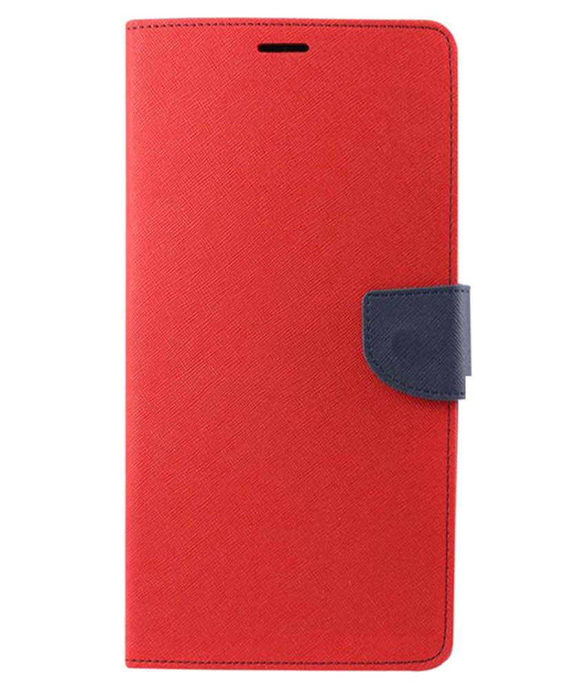 Denicell Flip Cover For Samsung Galaxy J2 Ace-red