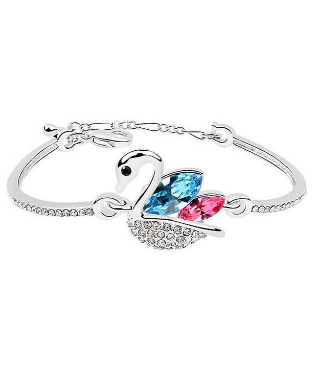 Silver Shoppee Pink Circle Of Life Bracelets