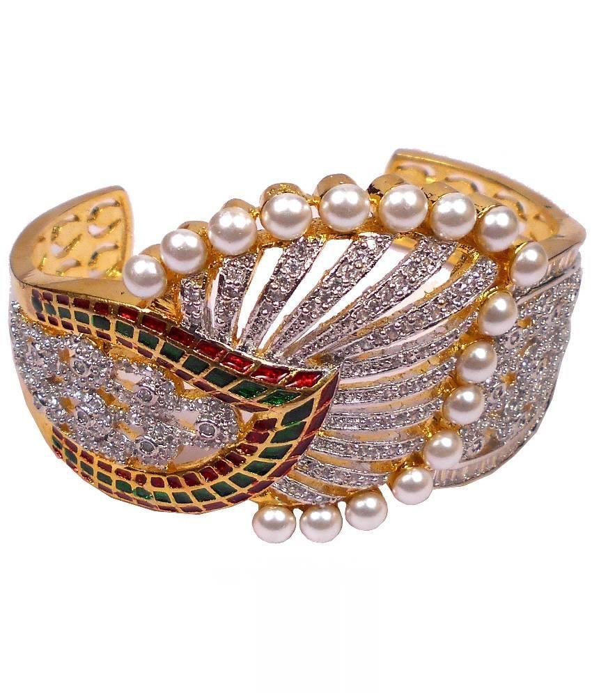 Rejewel Multicolour Brass Bracelet