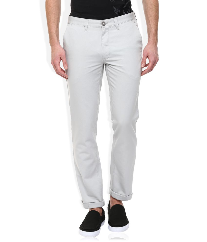 John Players Gray Regular Fit Chinos