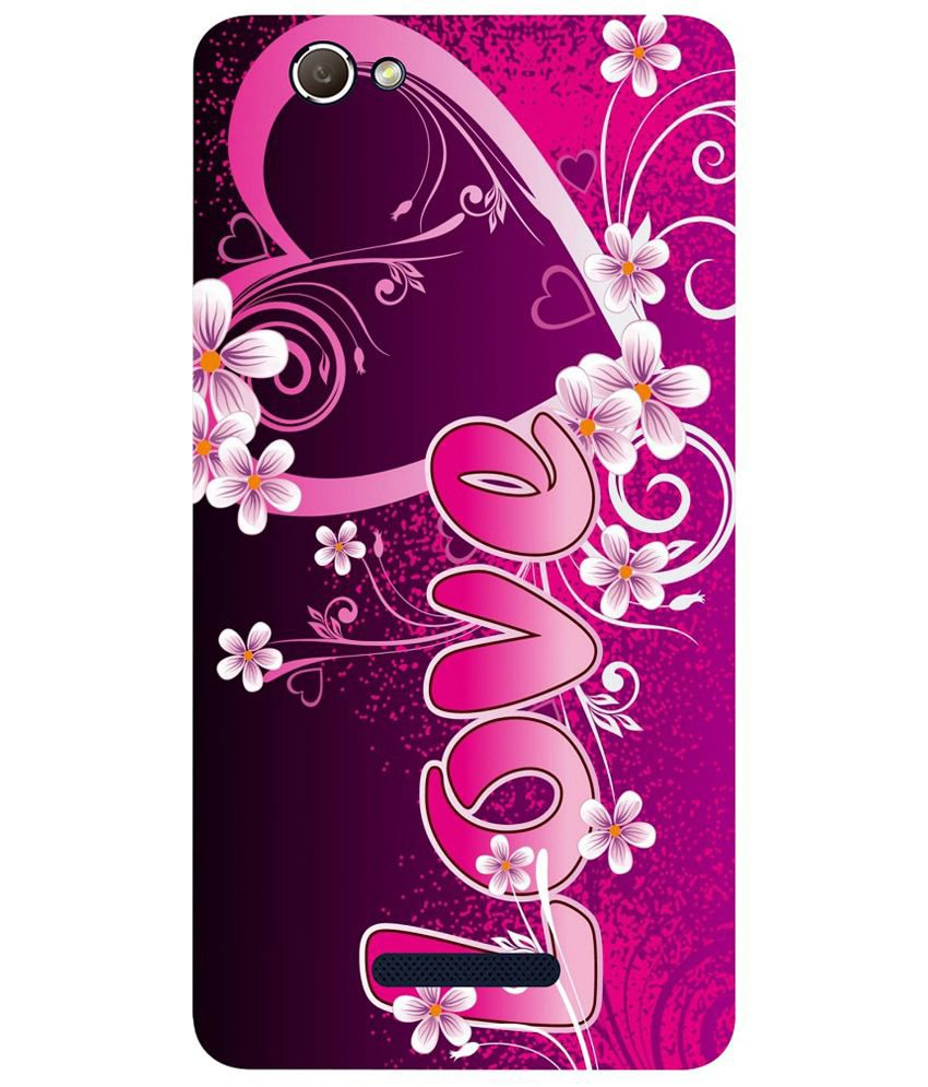 separation shoes 76f8c 9a830 Everything Printed Back Cover For Gionee S Plus - Multicolour