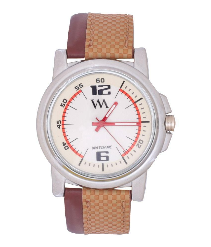 Watch Me Watch Me Brown and Beige Analog Watch
