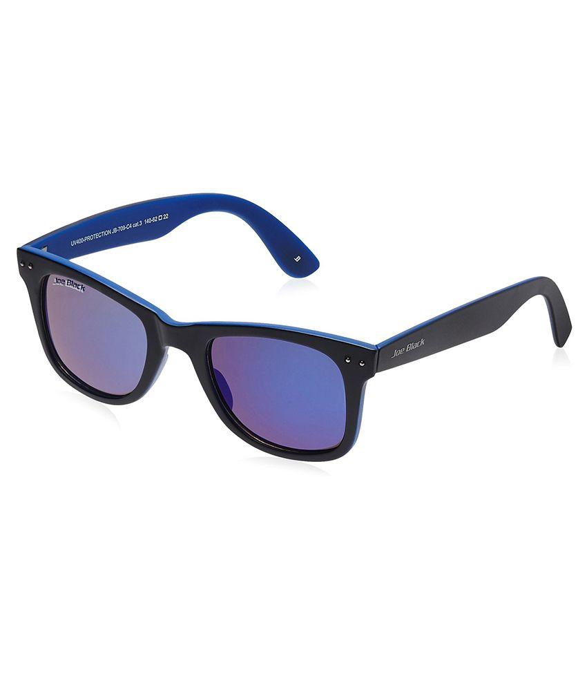 Joeblack Black Unisex Wayfarer Sunglasses