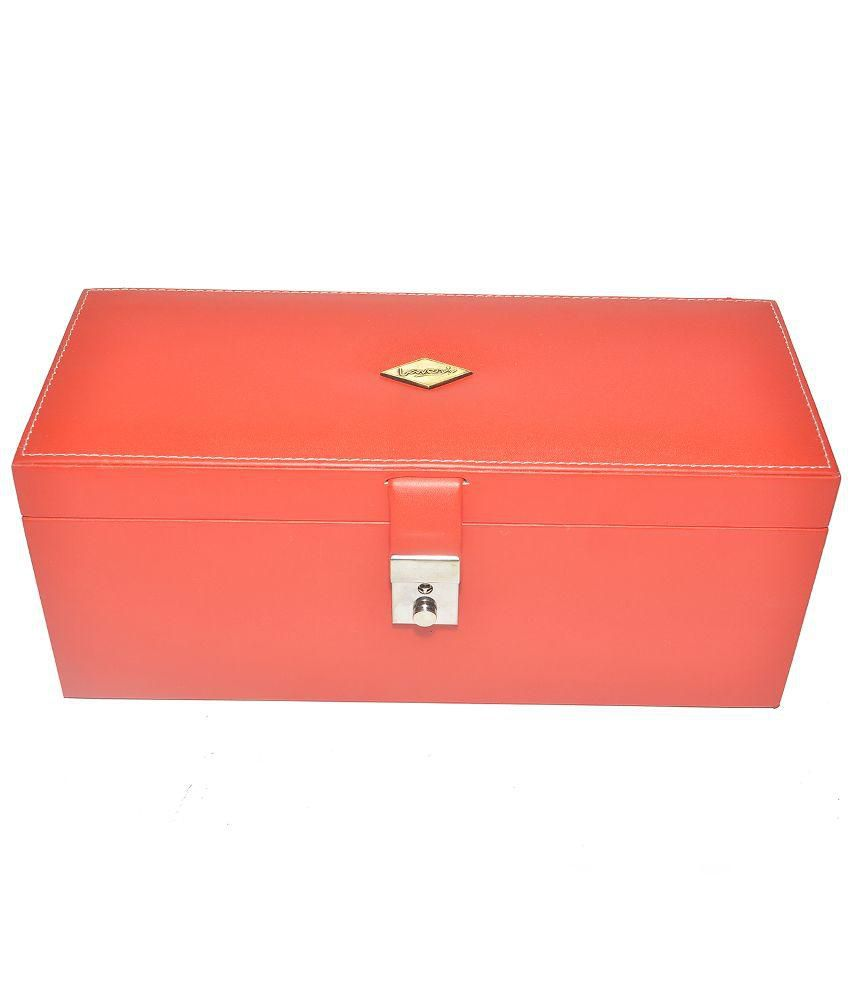 Laveri Vanity Jewellery Box Fits in Bank Locker - Red
