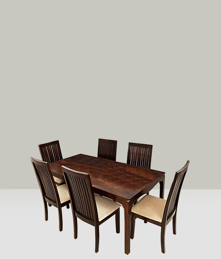 ethnic handicrafts elmond 6 seater dining set including dining table rh snapdeal com