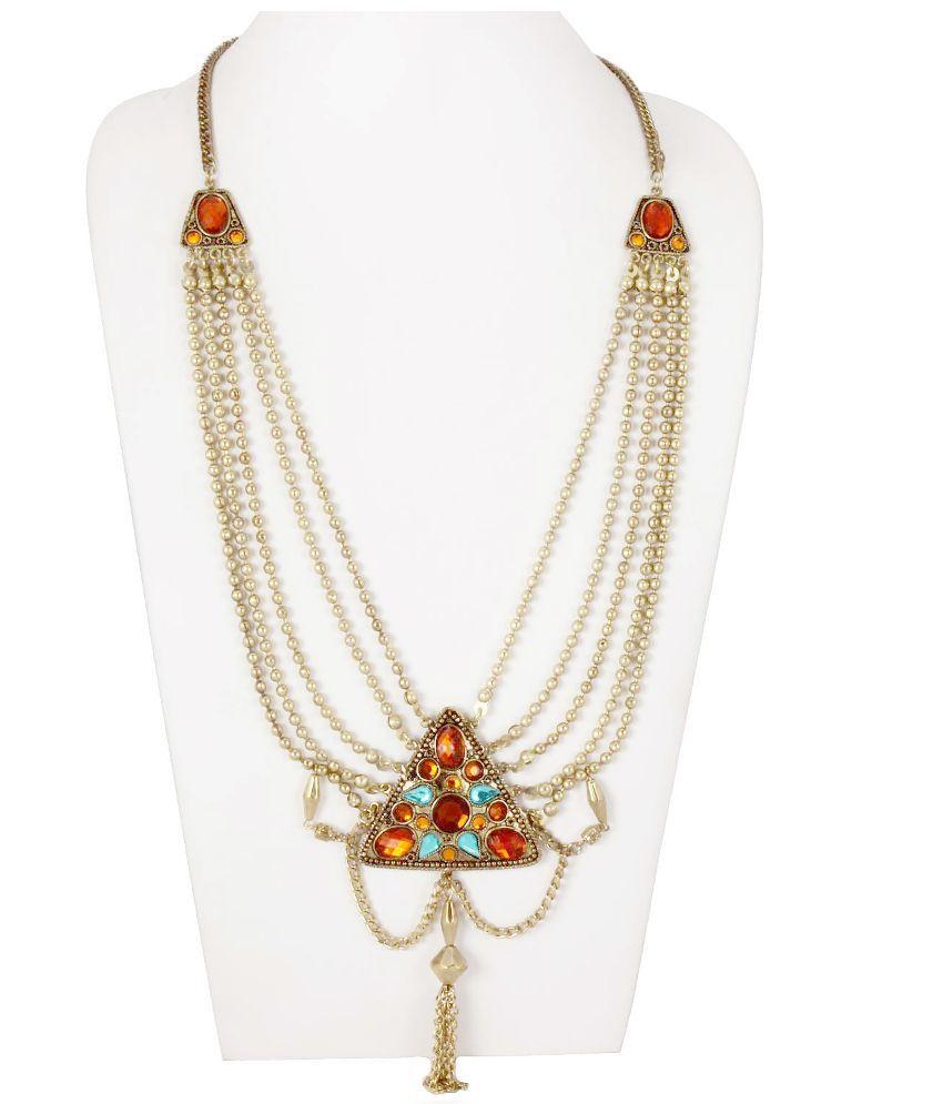 Chickraft Elegant Gold Necklace
