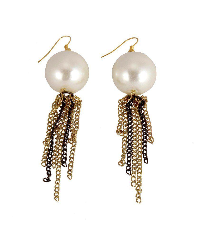 Chickraft Golden Style Diva Hanging Earrings Pack of 2