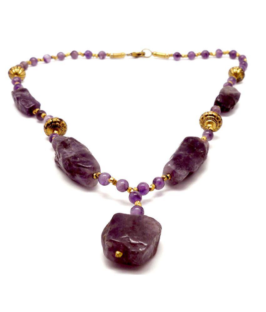 Chickraft Purple Glass Necklace