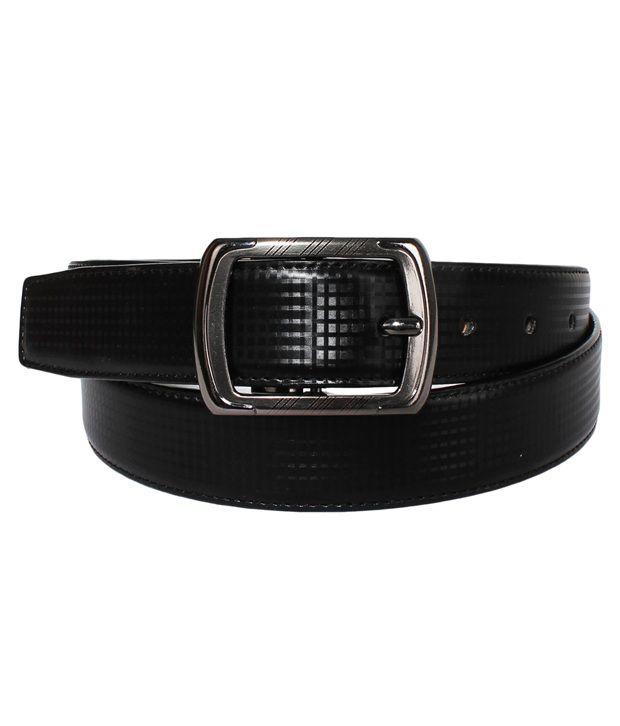 Klaska Black Pin Buckle Casual Belt