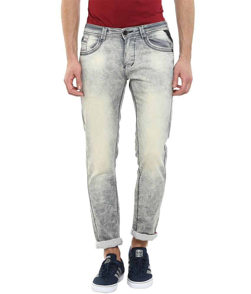 Code 61 Grey Skinny Fit Jeans