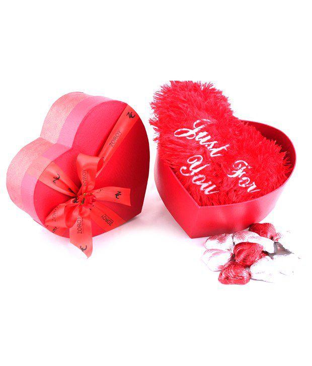 Zoroy Luxury Chocolate Valentines day love gift Chocolate Box Valentines day musical Heart Box 500 gm
