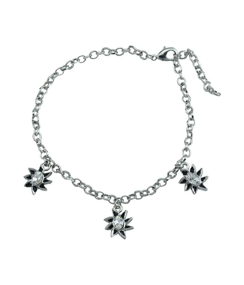 High Trendz Silver Alloy Single Anklet