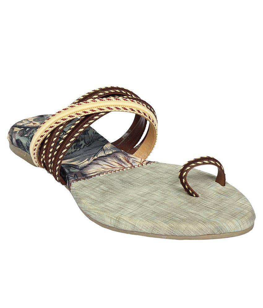 Cocoon Brown Flat Slip Ons
