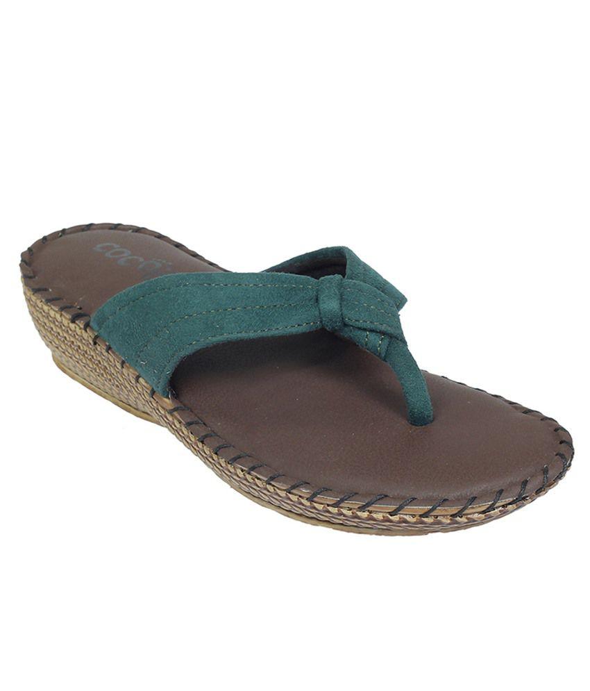 Cocoon Green Flat Slip Ons