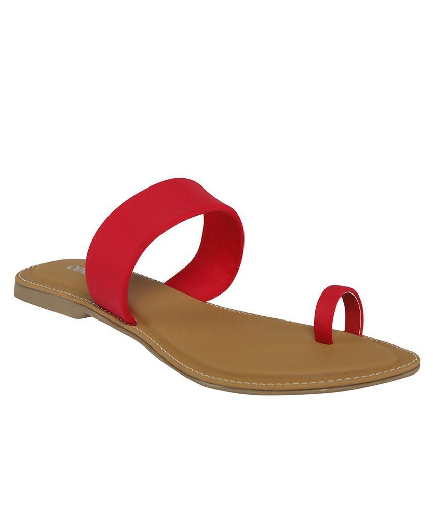 Cocoon Maroon Flat Slip Ons