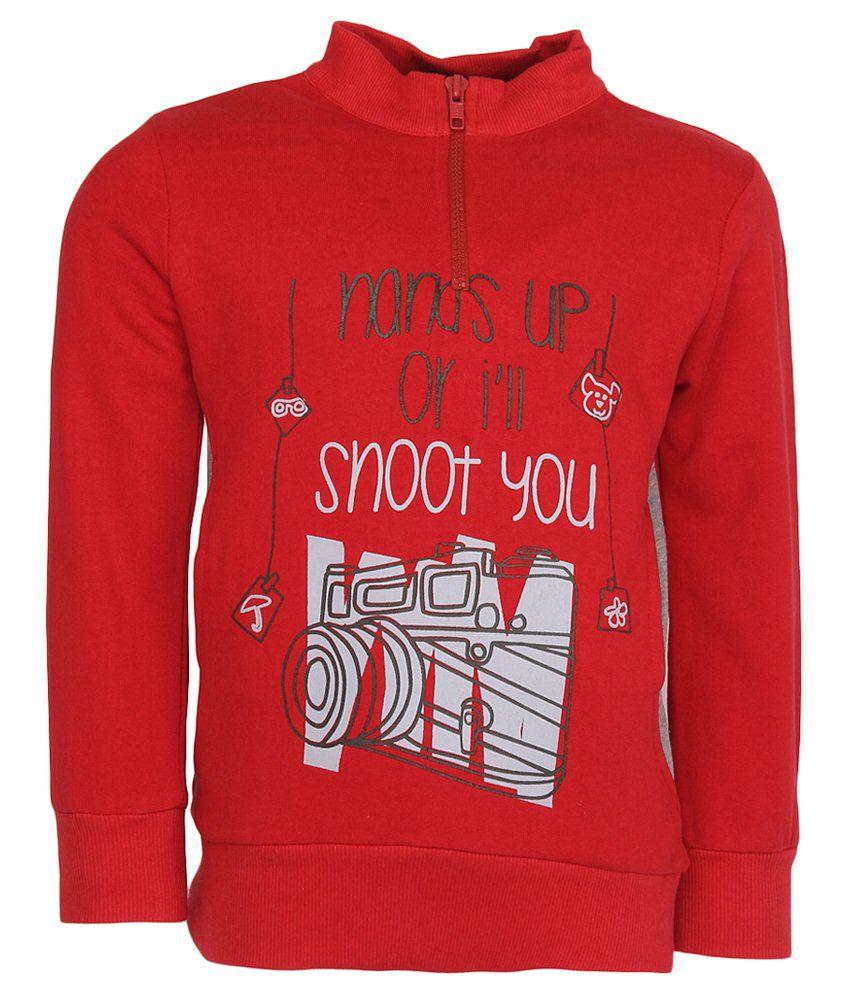 Cool Quotient Red Sweatshirt For Girls