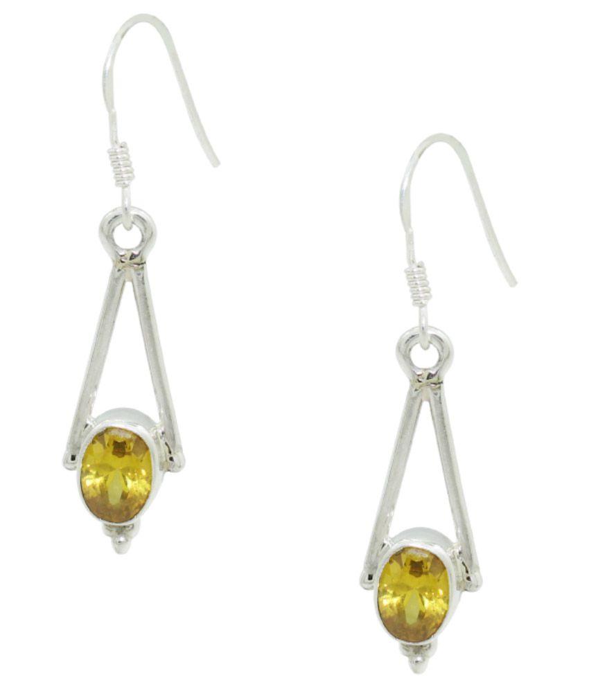 Frabjous 92.5 Sterling Silver Hangings Earrings