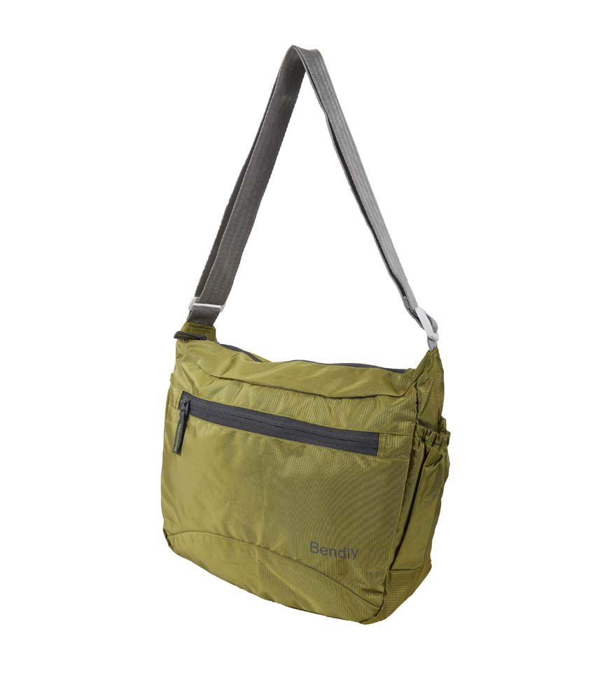 Bendly Smart Foldable Cross Body Sling Bag - Green - Buy Bendly ...