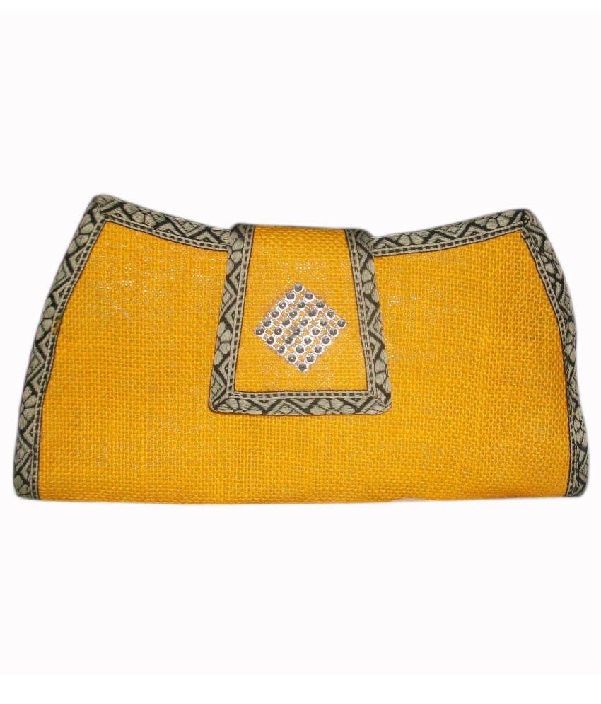 Bharathi Yellow Jute Regular Wallet