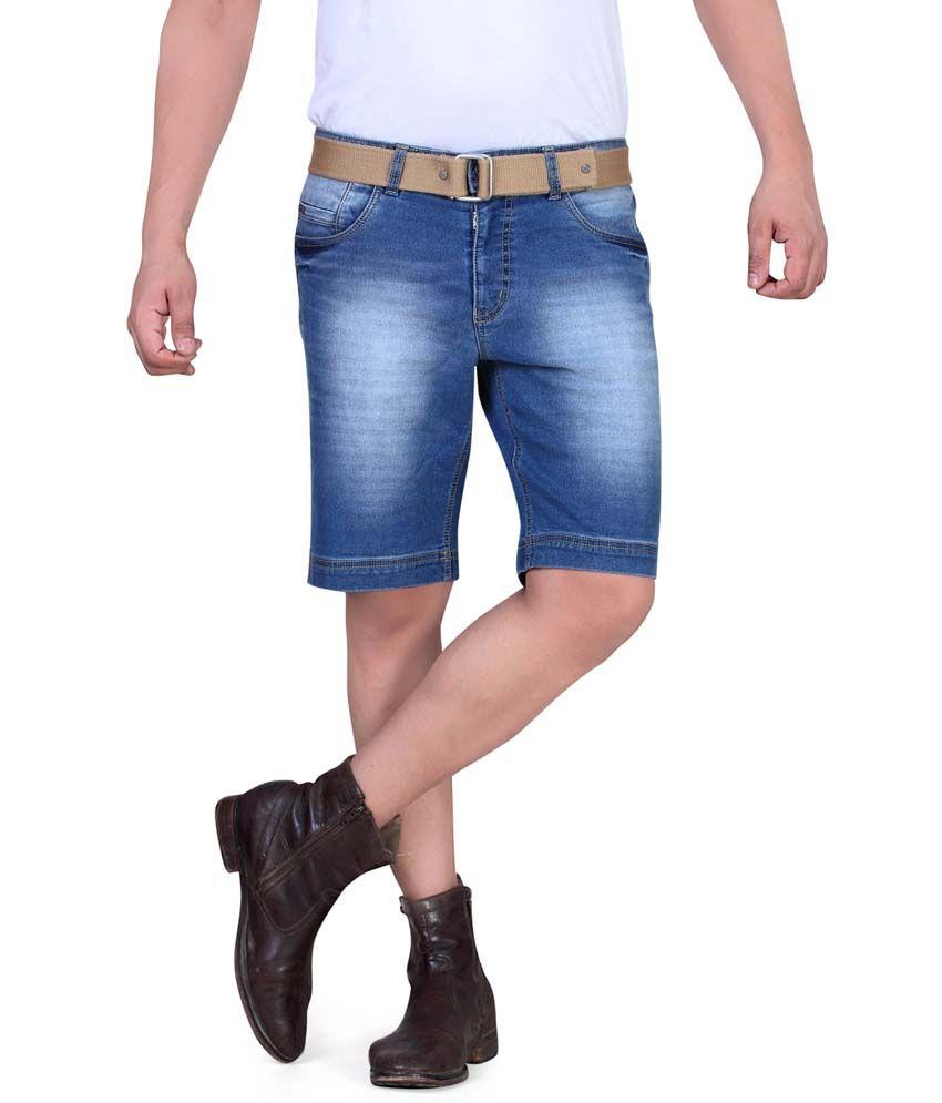 King & I Blue Cotton Shorts