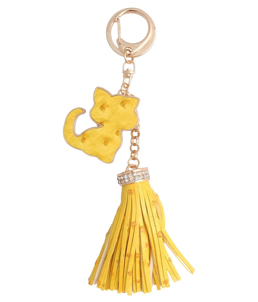 Super Drool Yellow Non Metal Key Chain For Women