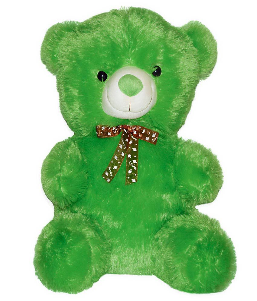 Tiny Tickle Tiny Tickle Green Plush Teddy Bear Soft Toy