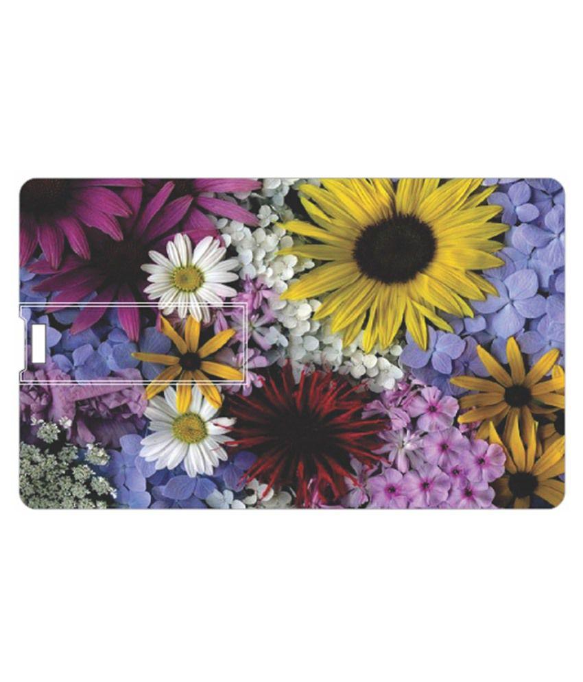Via Flowers Pc160051 16 Gb Pen Drives Multicolour