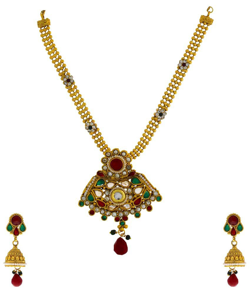 Anuradha Art Multicolour Alloy Necklace Set
