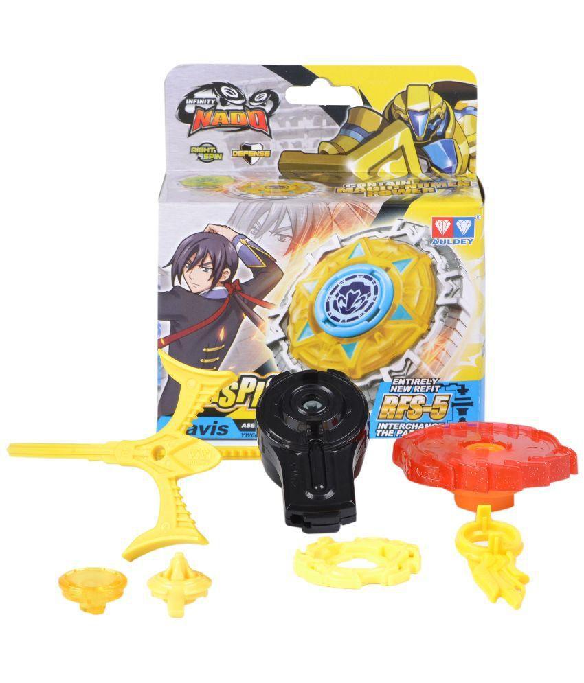 Infinity Yellow Plastic Beyblade With Launcher 5 Pieces Buy Infinity Yellow Plastic Beyblade