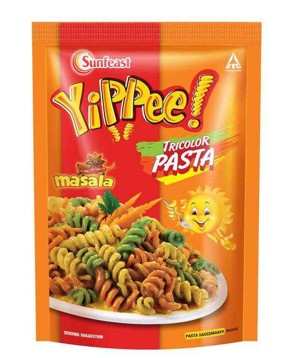 yippee tricolor pasta masala 70g pack of 5