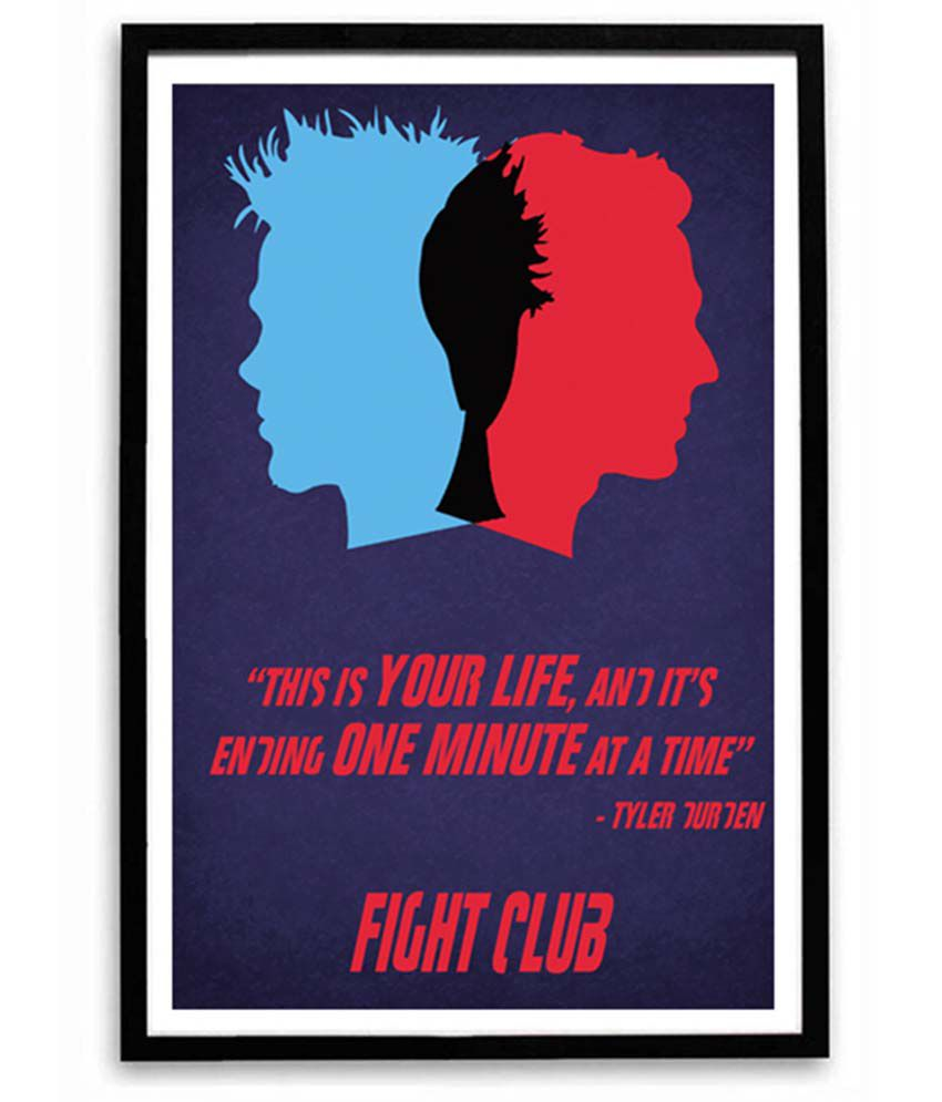 Speaking Walls Fight Club Tyler Durden Quotes Poster