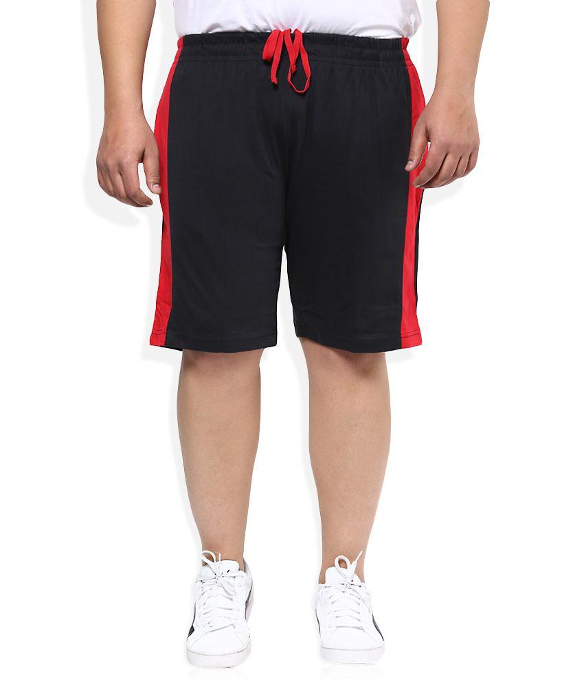 Alto Moda By Pantaloons Black Solid Shorts