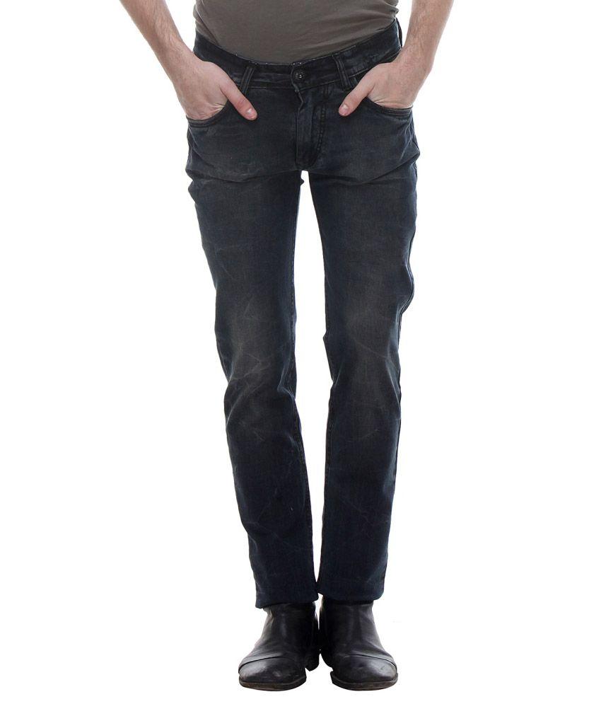 La Marino Black Slim Fit Jeans
