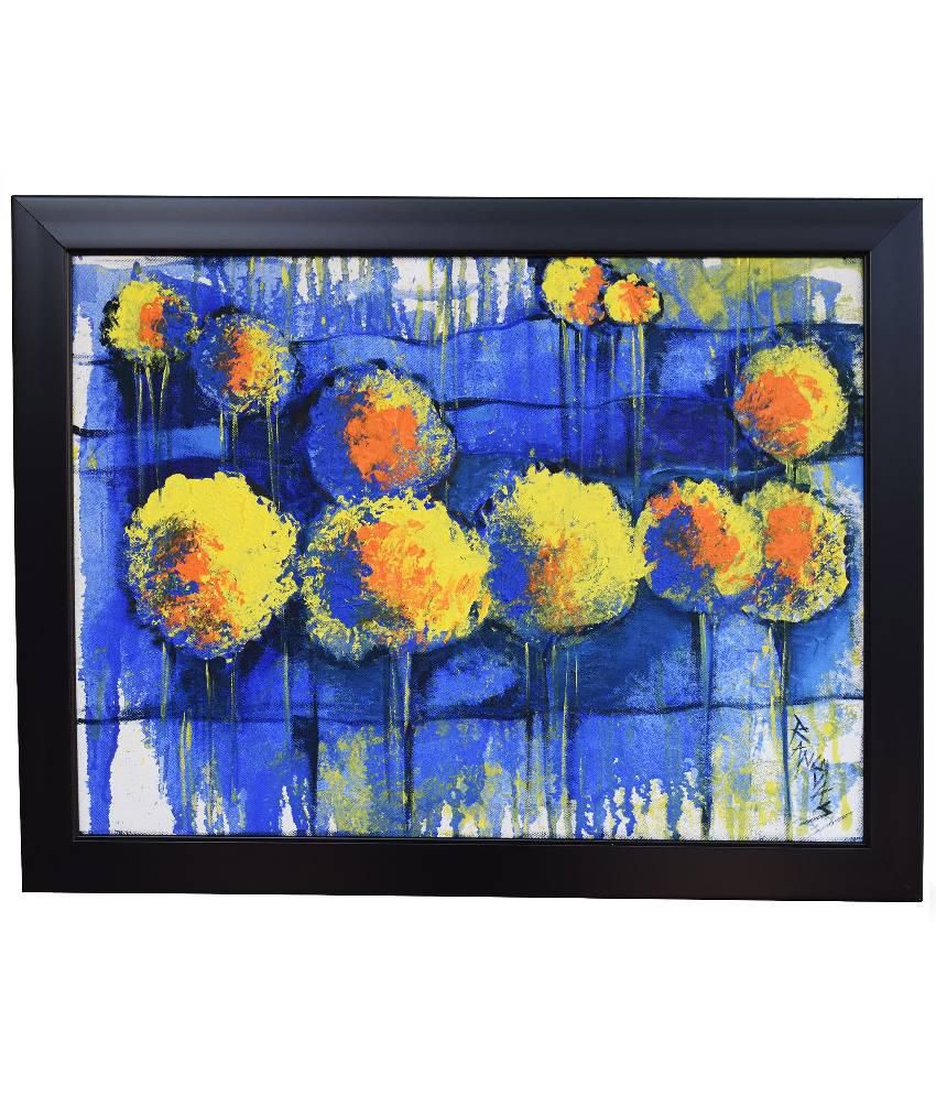 Rangvas Marigold Handmade Modern Abstract Oil Painting