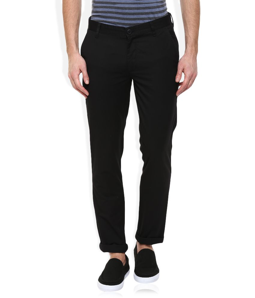 John Players Black Slim Chinos Trouser