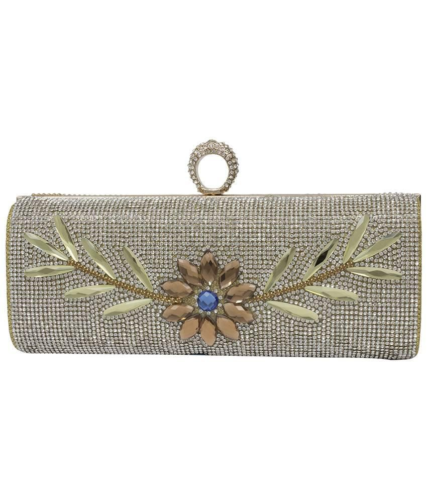 discount world-wide renown new products for Buy Stylo Gold Metal Clutch at Best Prices in India - Snapdeal