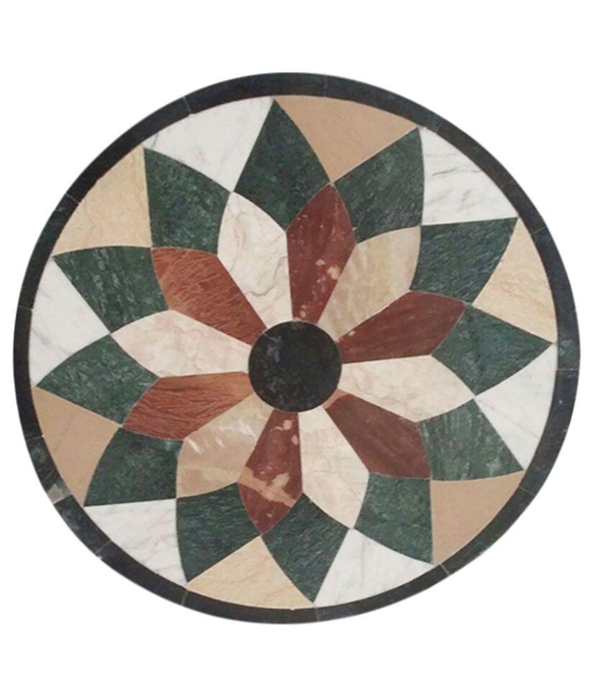 Shiv Shakti Marble Handicrafts Round Italian Marble Rangoli Granite