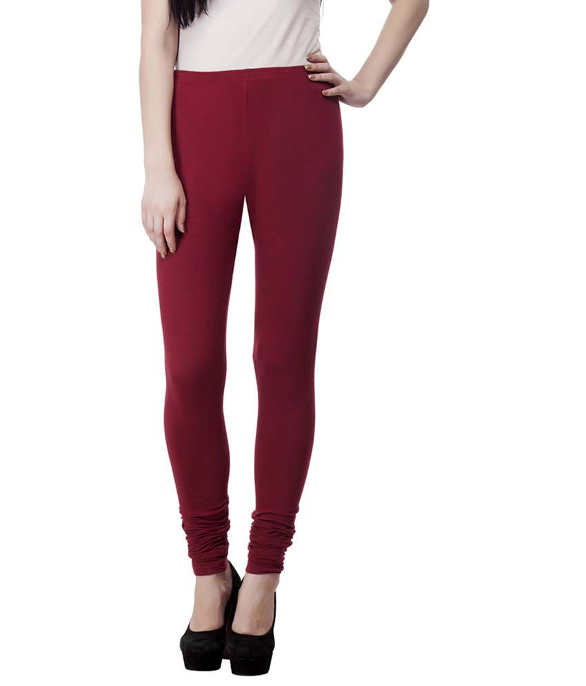4eb7f03126 ... Aadhar Creations Best Quality Combo of Mehroon and Skin Cotton Leggings  ...