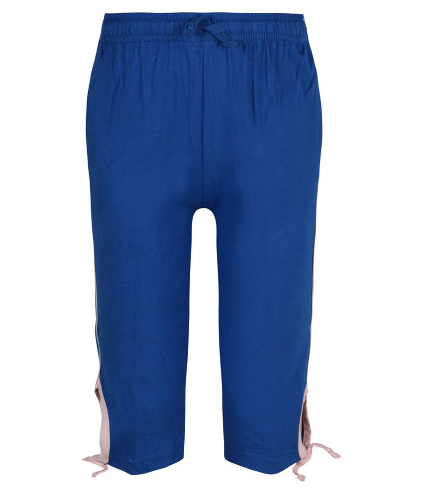 Jazzup Blue Capri For Girls